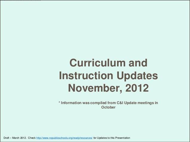 Curriculum updates for schools