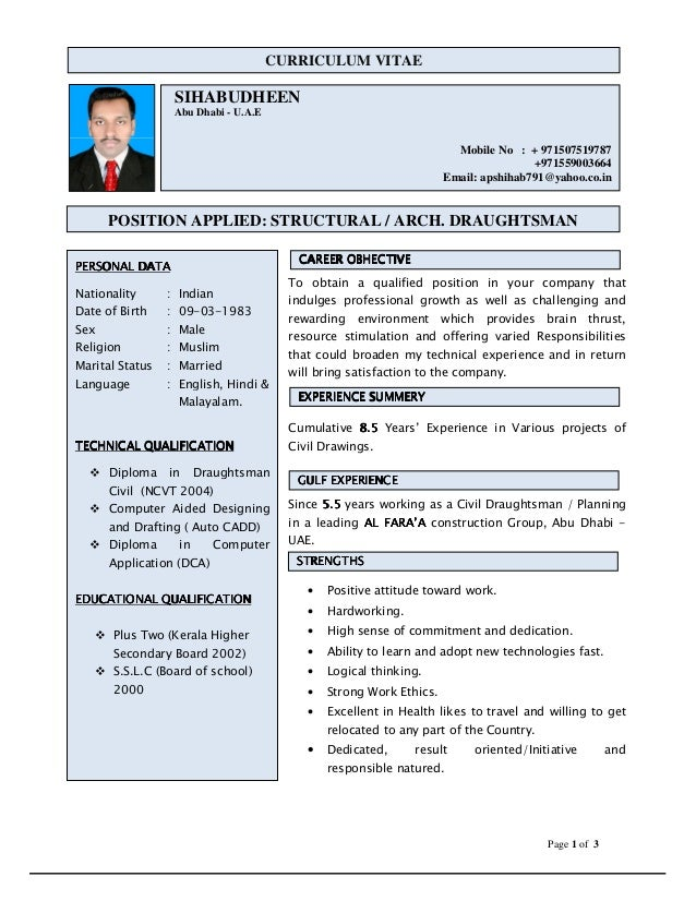 sample draftsman cover letter. cad designer resume format ebook ...