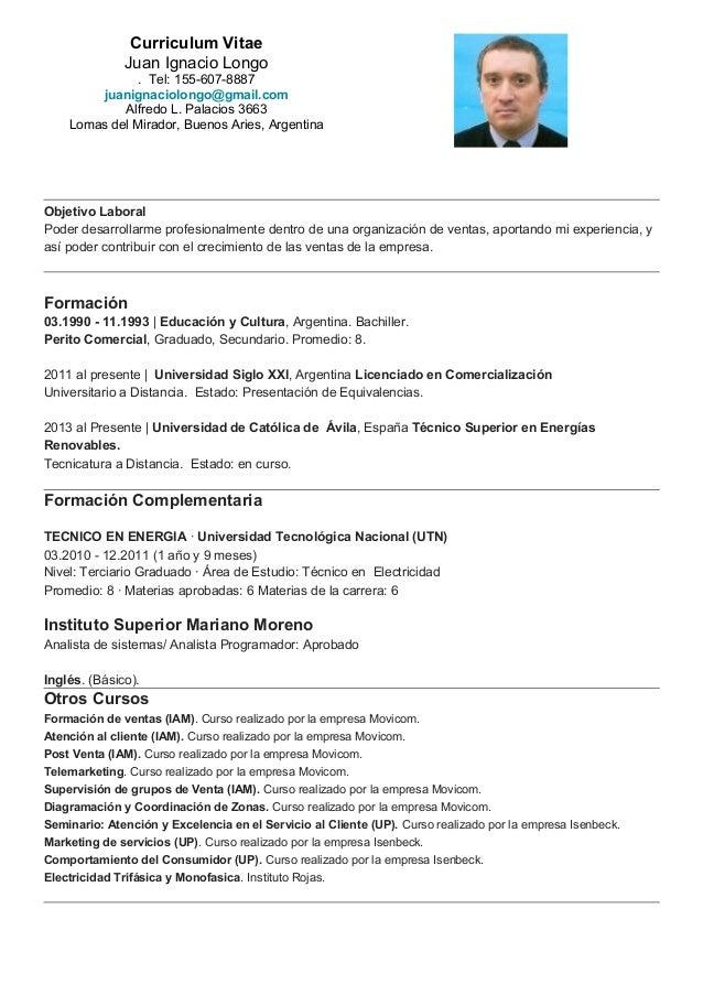 Curriculum Vitae 2015 Argentina Old Granellodisenape Org