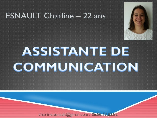 Curriculum Vitae - Charline ESNAULT - Assistante de Communication