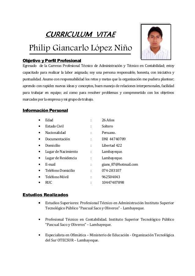 Curriculum Vitae  Giancarlo L U00f3pez Ni U00f1o 2014