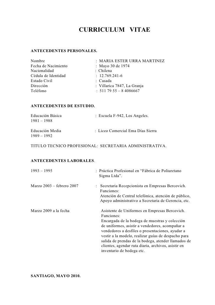 Currículum Vitae en Word | Modelo Curriculum