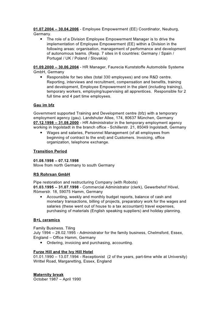 writing a resume for a school leaver