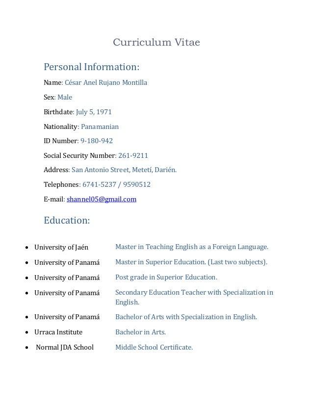 Curriculum vitae2010ing