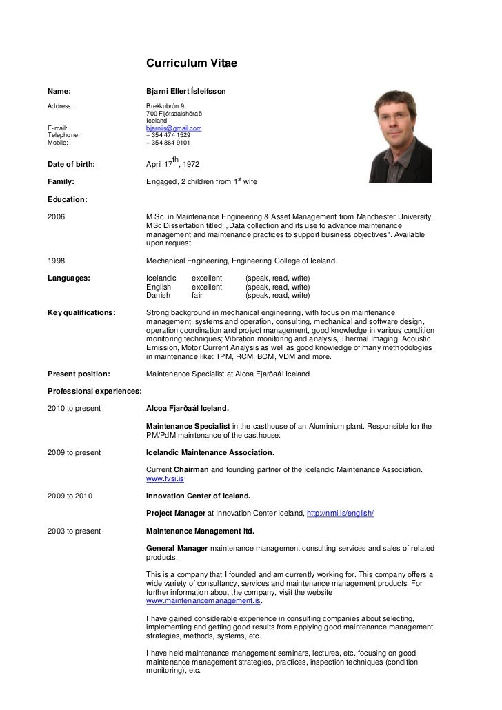 tips for curriculum vitae
