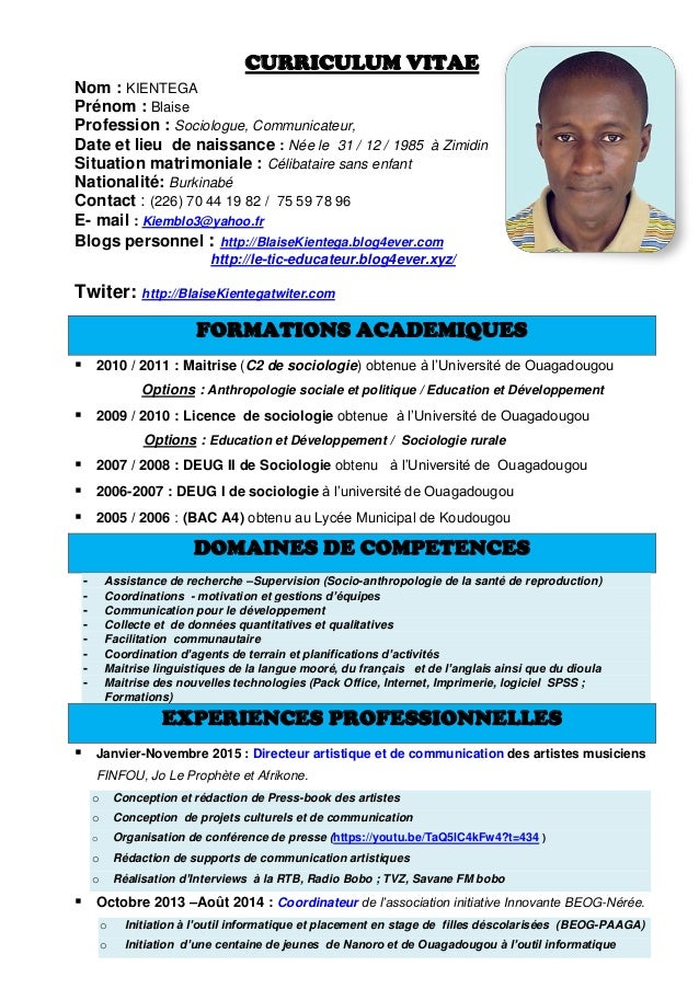 exemple de cv sociologue