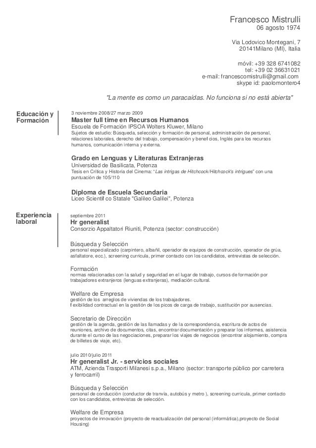 """Search Results for """"Ejemplo Curriculum Vitae Espaol"""" – Calendar ..."""