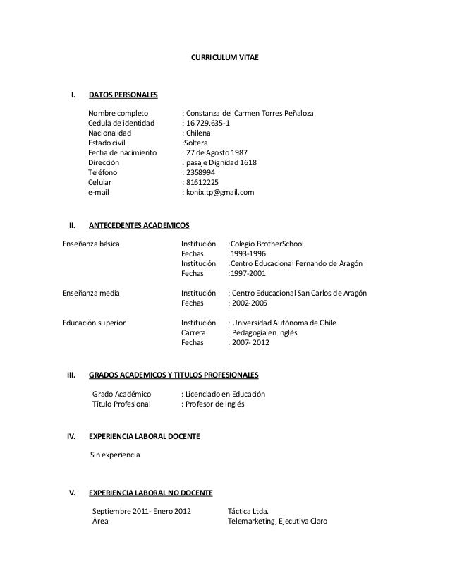 formato de curriculum vitae 2015 newhairstylesformen2014