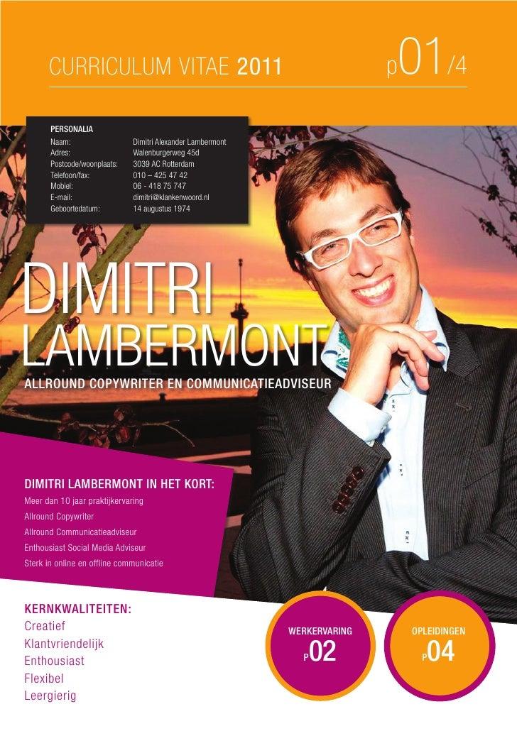Curriculum vitae van_dimitri_lambermont_2011