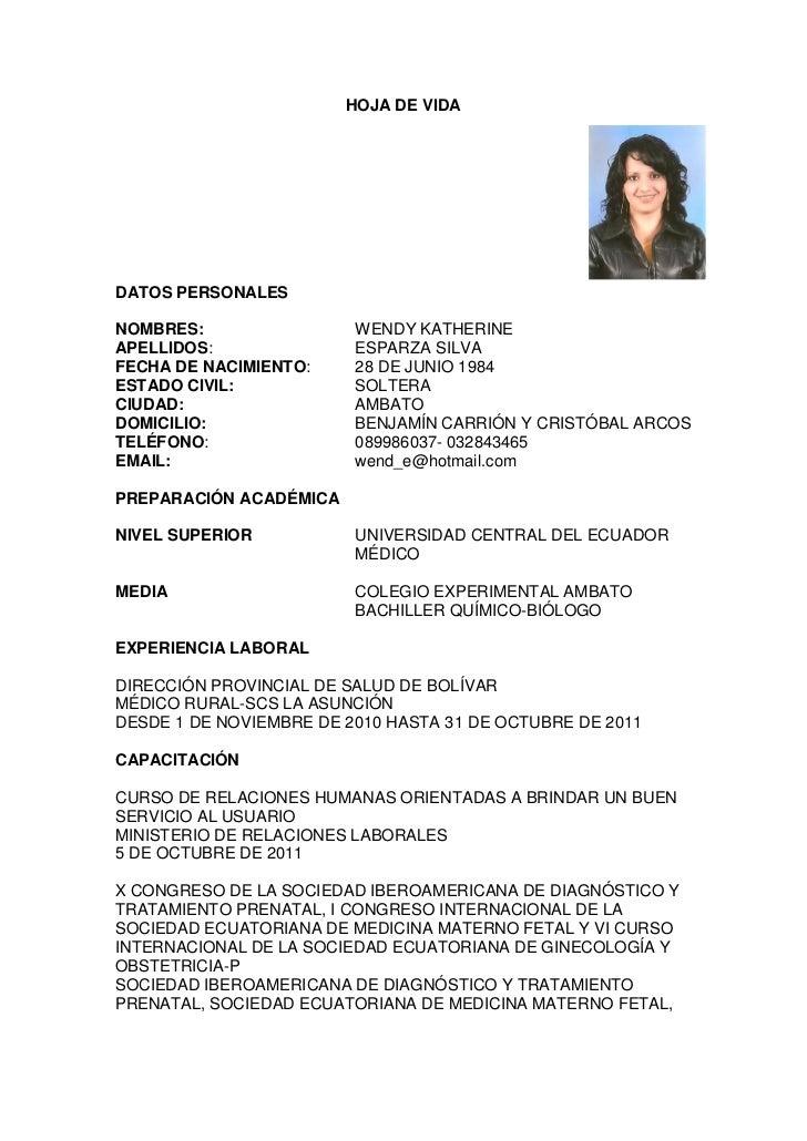 modelo curriculum vitae medico residente - 28 images - modelo cv ...