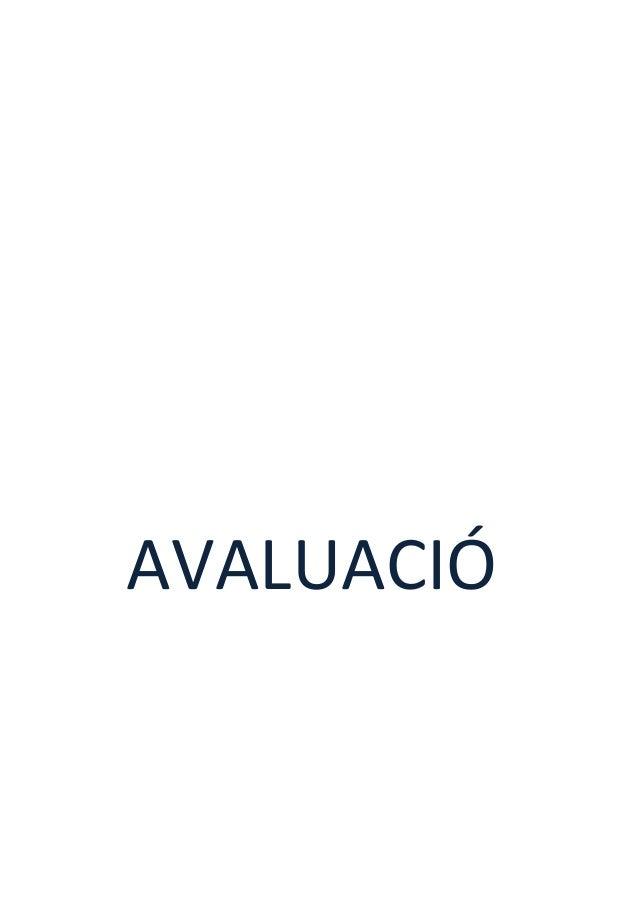 AVALUACIÓ