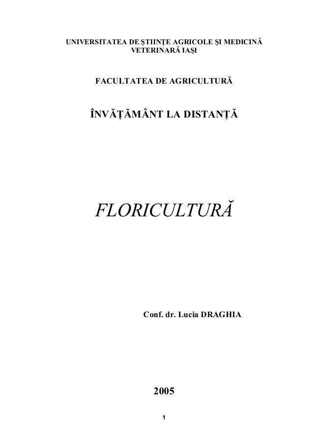 Curs floricultura