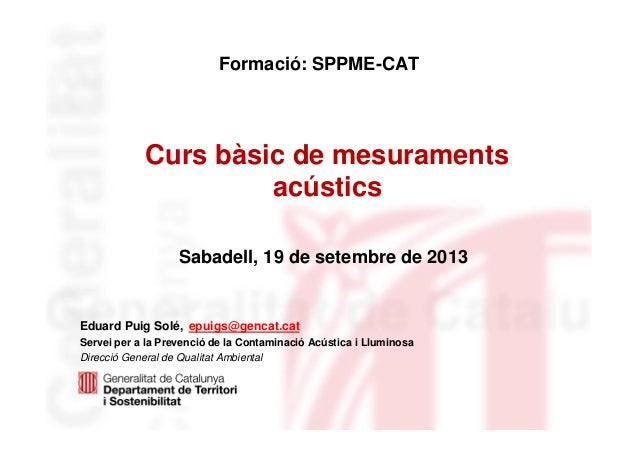 Curs bàsic de mesuraments acústics