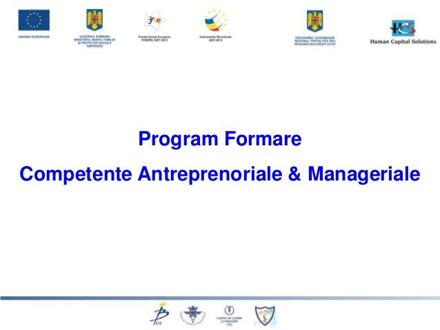 Program FormareCompetente Antreprenoriale & Manageriale