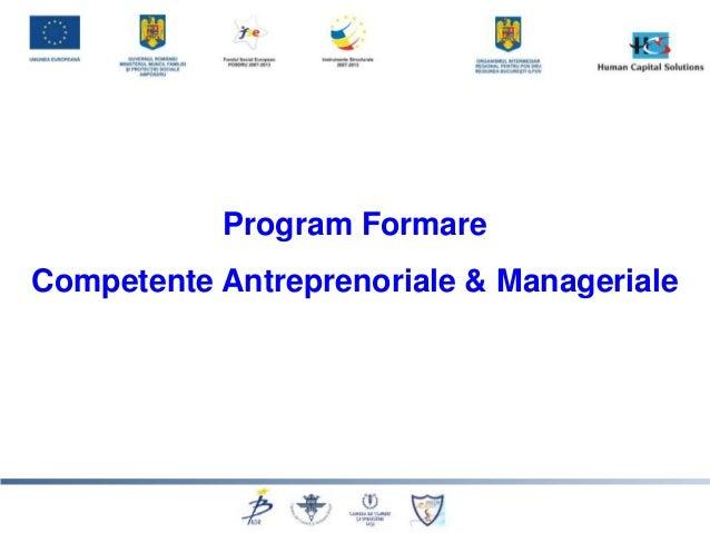 """Prezentare curs """"Competente antreprenoriale"""""""