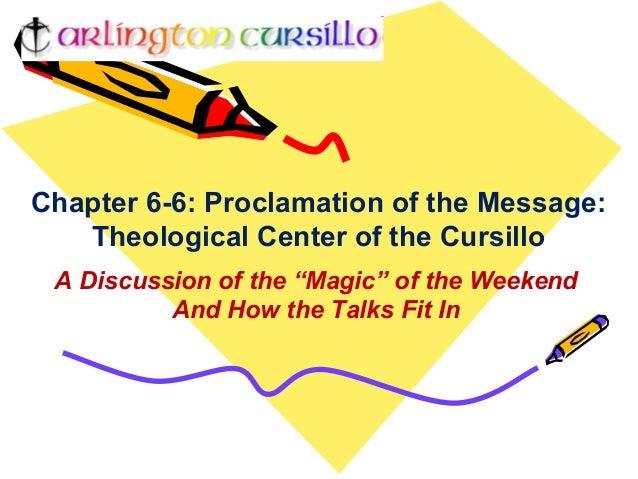 Cursillo chapter 6 6