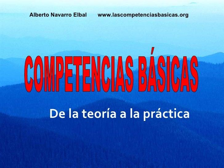 Competencias básicas: de la teoría a la práctica.
