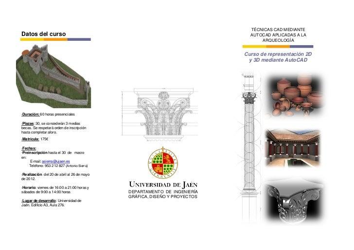 TÉCNICAS CAD MEDIANTEDatos del curso                                                               AUTOCAD APLICADAS A LA ...