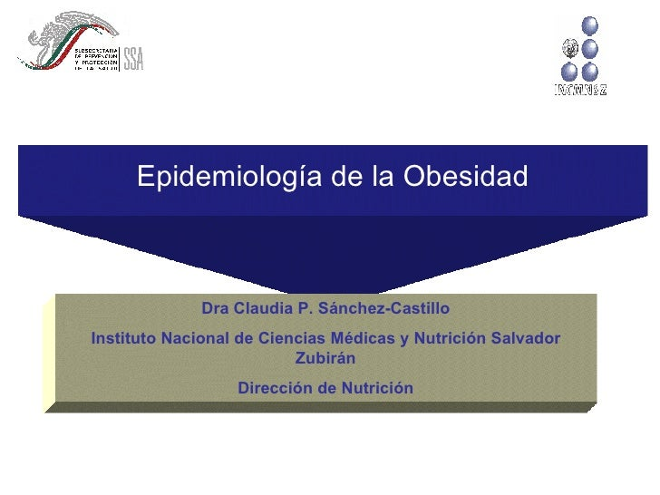 Epidemiología de la Obesidad Dra Claudia P. Sánchez-Castillo Instituto Nacional de Ciencias Médicas y Nutrición Salvador Z...