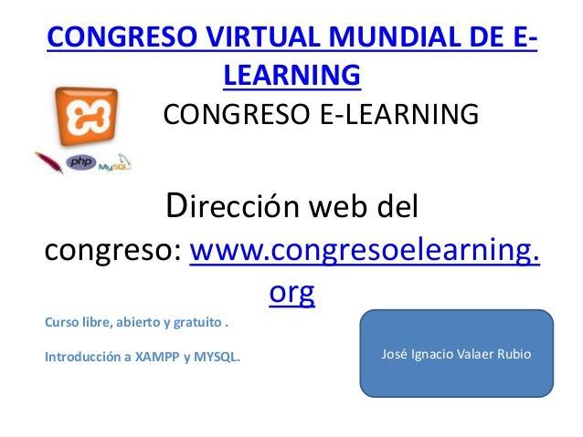 Curso.introducción a Xampp y Mysql.José ignacio Valaer Rubio