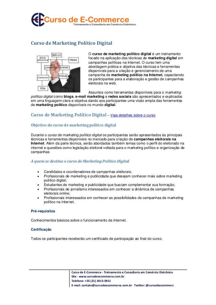 Curso de Marketing Político Digital