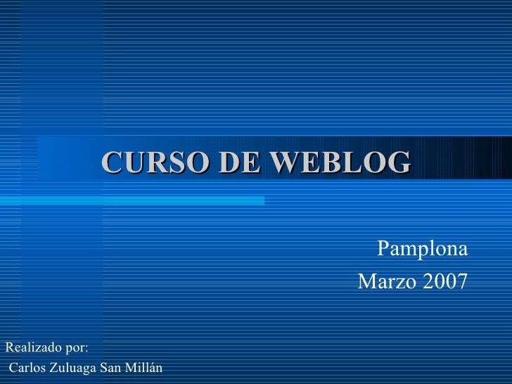 Curso Edición de Blogs