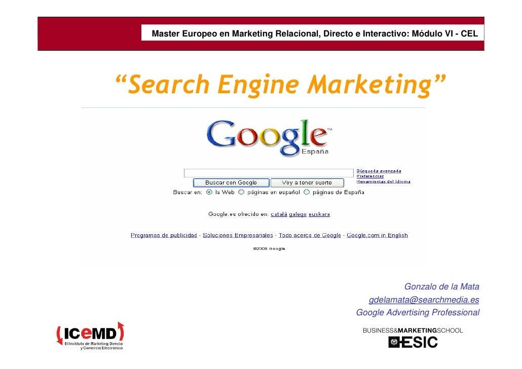 Master Europeo en Marketing Relacional, del curso e ajustar el tamaño del cuadro                               Poner títul...