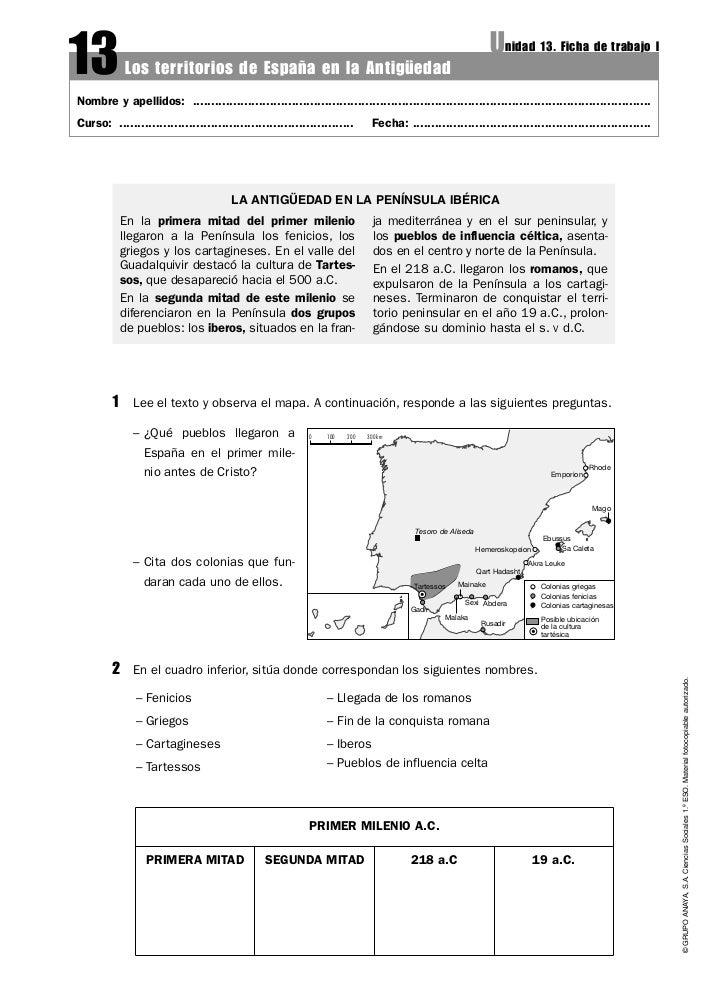 13           Los territorios de España en la Antigüedad                                                                   ...