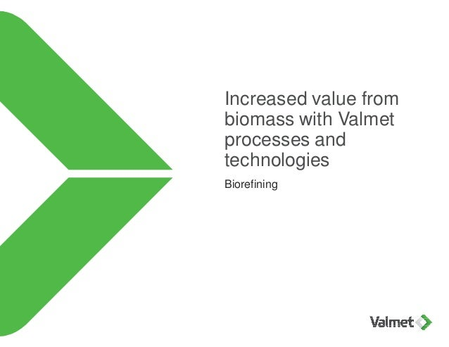 Increased value from biomass with Valmet processes and technologies Biorefining