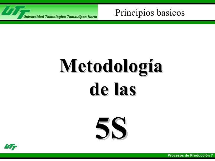 Principios basicos <ul><li>Metodología de las  </li></ul><ul><li>5S </li></ul>