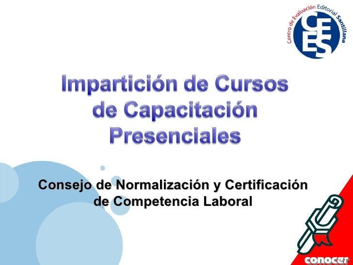 Consejo de Normalización y Certificación de Competencia Laboral