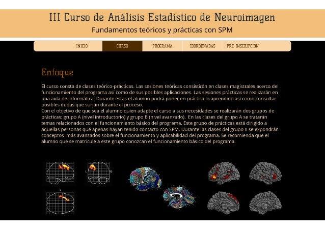 III Curso de Análisis Estadístico de Neuroimagen.