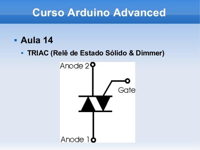 Curso Arduino Advanced  Aula 14  TRIAC (Relê de Estado Sólido & Dimmer)
