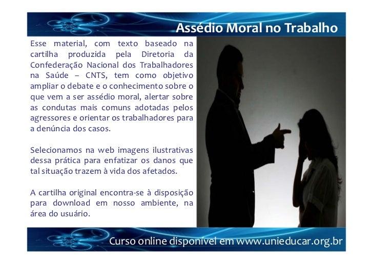 Curso online assédio moral no trabalho