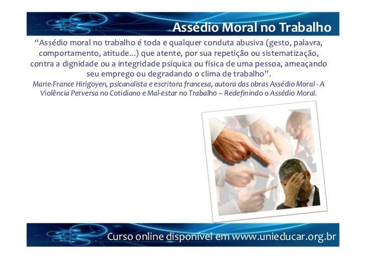 Monografia assedio moral no trabalho