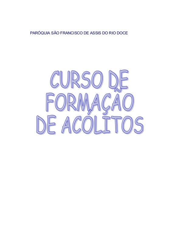 PARÓQUIA SÃO FRANCISCO DE ASSIS DO RIO DOCE