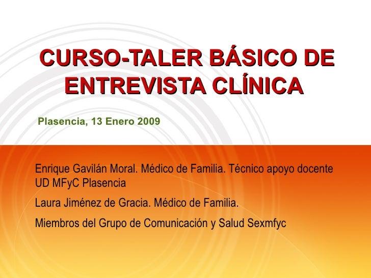 Curso-Taller Basico entrevista clínica para residentes de medicina de familia