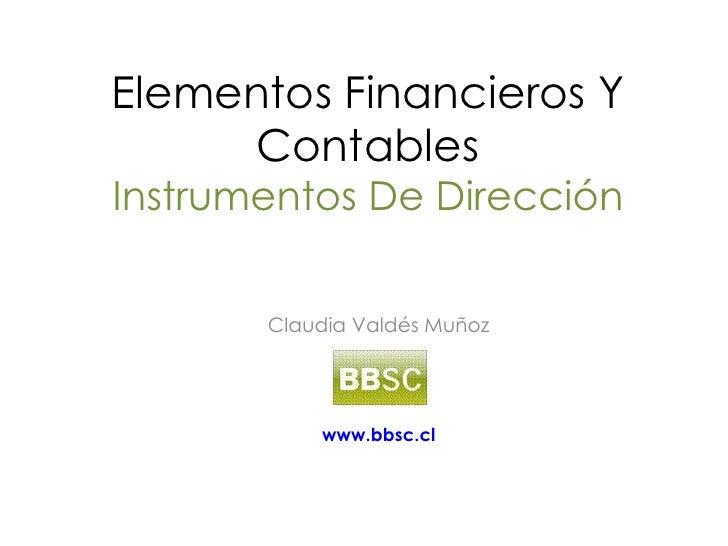 Curso Bbsc  Elementos Financieros Y Contables