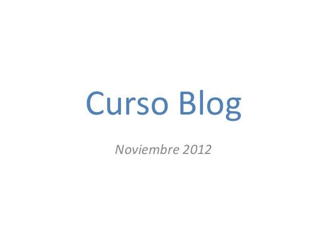 Curso Blog Noviembre 2012