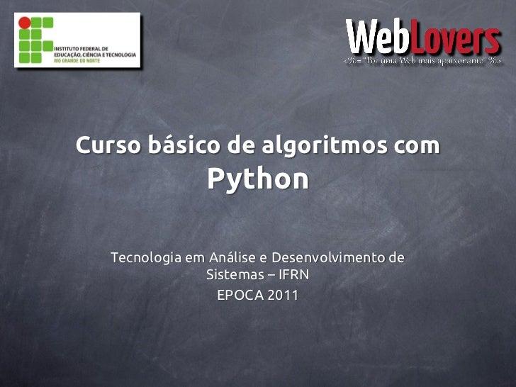 Curso básico de Algoritmos com Python