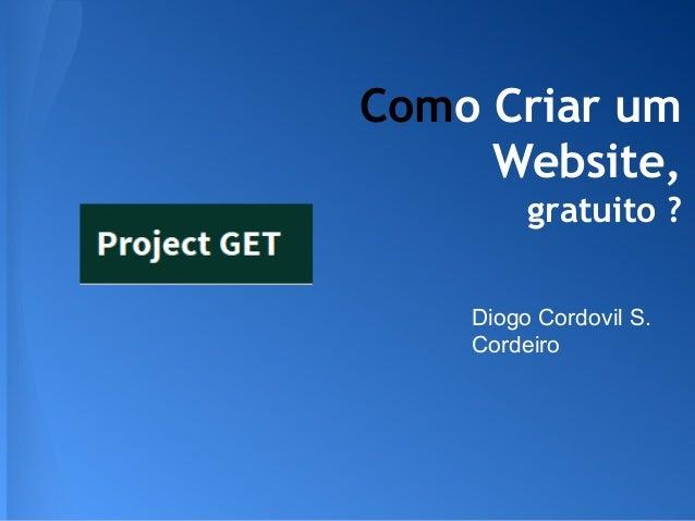 """Project GET - Mini-Curso """"Como criar um website sem programar"""""""