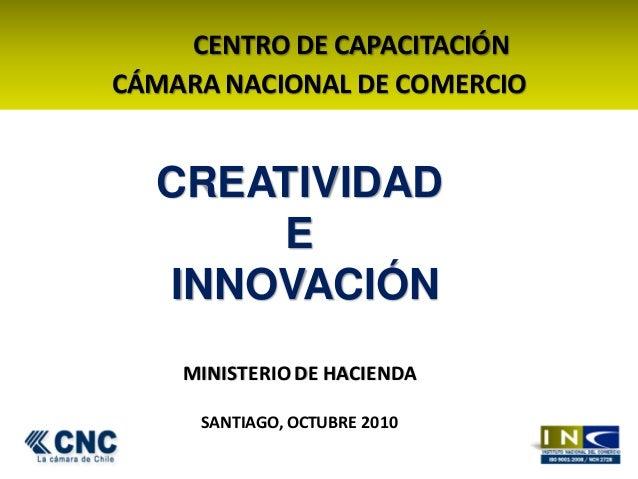Curso creatividad e innovacion sub secretaria de hacienda for Ministerio de innovacion