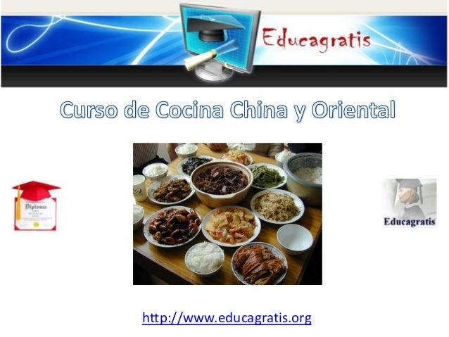 Curso de cocina china y oriental - Cursos de cocina en ciudad real ...