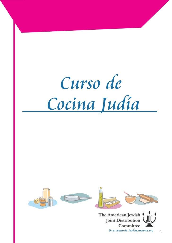 Curso de Cocina Judia