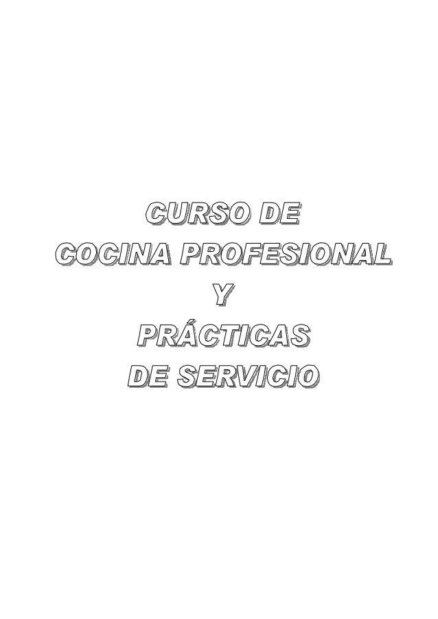 Curso de cocina profesional for Manual tecnicas culinarias