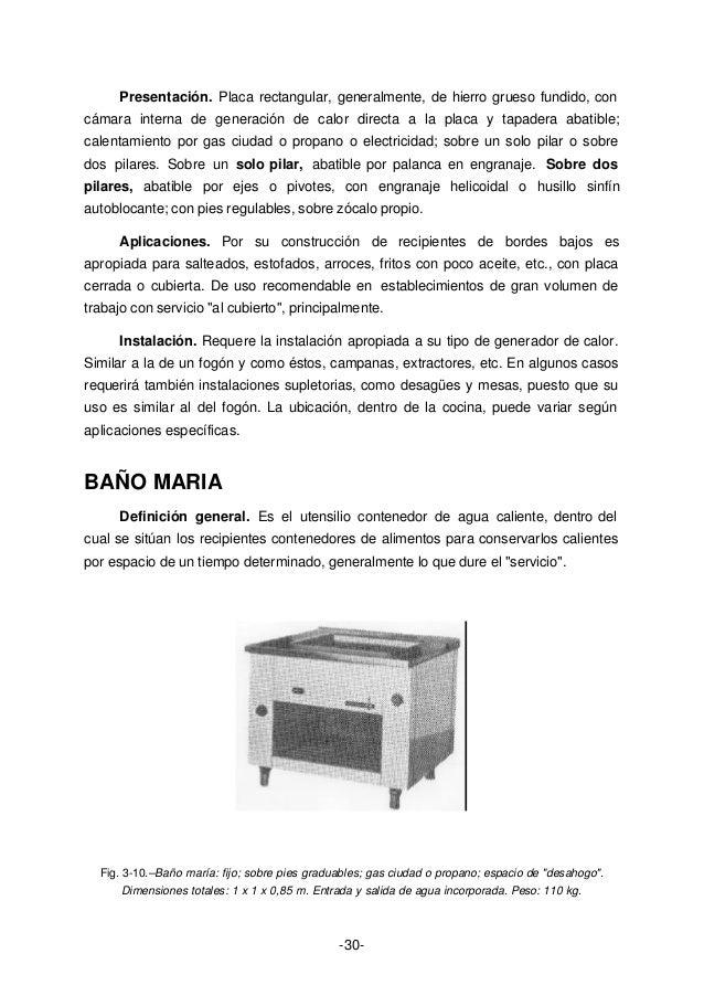 ba o maria cocina definicion On maquinaria de cocina definicion