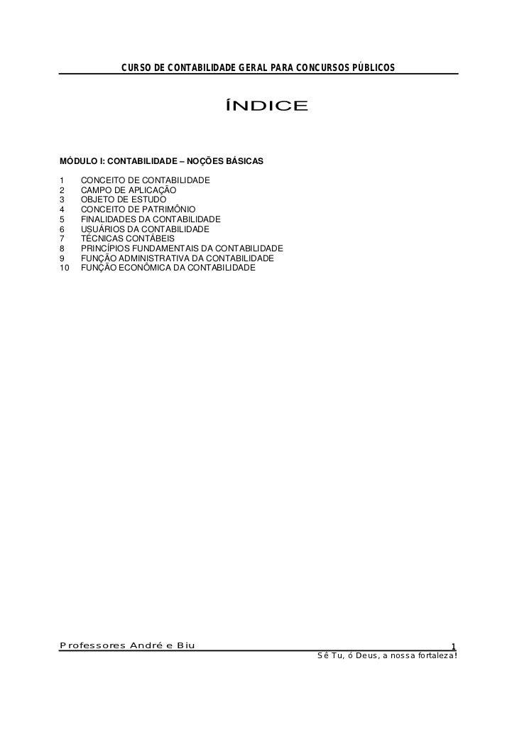 Curso de contabilidade geral para concursos públicos