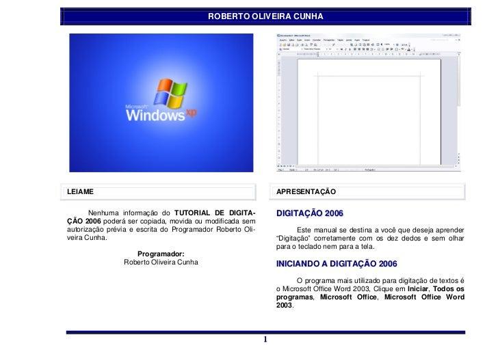 ROBERTO OLIVEIRA CUNHALEIAME                                                         APRESENTAÇÃO       Nenhuma informação...