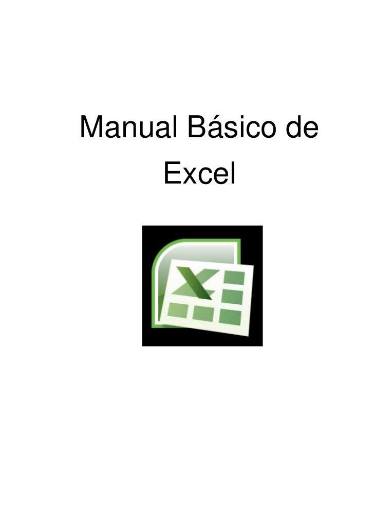 Manual Básico de     Excel