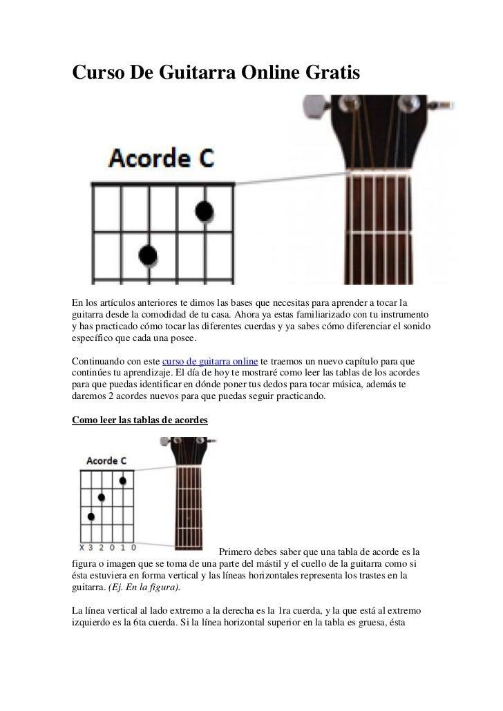 Curso De Guitarra Online GratisEn los artículos anteriores te dimos las bases que necesitas para aprender a tocar laguitar...